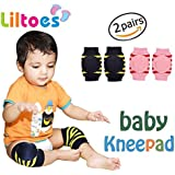 Liltoes Soft Baby Safety Knee & Elbow Pads 2 Pairs (Blue & Pink)