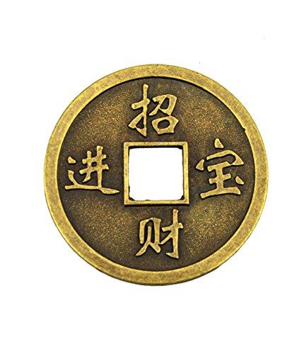 Extra Large 1,9 cm pièce Feng Shui porte-bonheur chinois En laiton de grande qualité-Avec Sac Cadeau-Y1030 Ching I