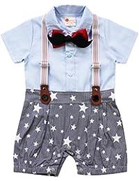 ARAUS Bebé Mono Pelele Caballero Conjunto de Una Pieza Estilo de Estrella Mameluco Manga Corta para