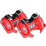 Rotelle da scarpa - misura regolabile, portata fino a 80kg, rosso con