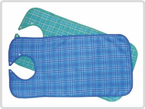 (Lätzchen für Erwachsene Ess-Schürze, waschbar, Farbe blau kariert)