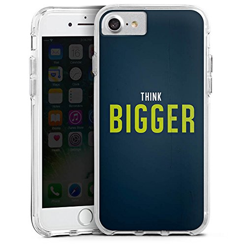 Apple iPhone X Bumper Hülle Bumper Case Glitzer Hülle Sprüche Phrases Sayings Bumper Case transparent