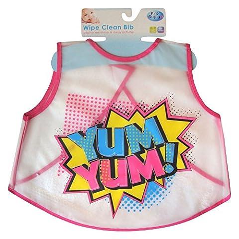 Baby Boys & Girls Easy Wipe Clean Messy Play Bib (Yum Yum!)