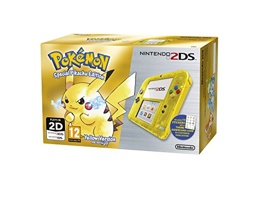 Nintendo 2DS Transparent Yellow + Pokemon Yellow (Limited Edition) (Nintendo 3DS)