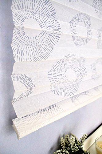 Raffrollo / Ösenrollo Circular (weiss, ca. 80 x 140 cm) - 2