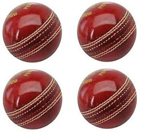 Genuine Cricket Set of 4 Balls Yorker by Forever Online Shopping (Free 1 Plastic Whistle)