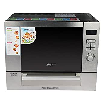 Godrej 25 L Grill Microwave Oven (GME 25GP1 MKM 25L MWGRPZ MR, Silver)