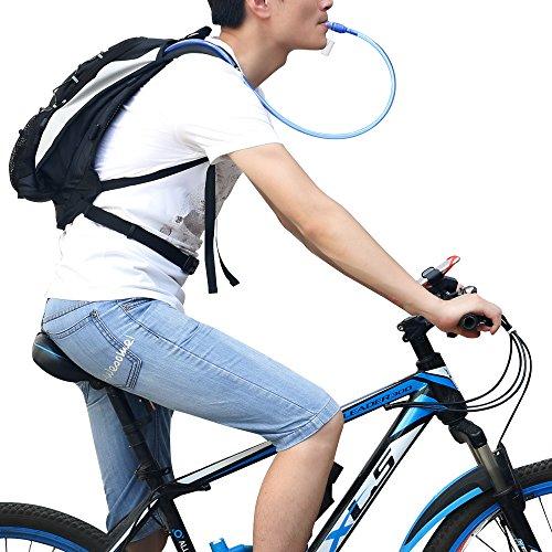 GIMARS Trinkrucksack mit 2L-Trinkblase Wasserdicht Sport Rucksack für Radfahren, Wandern, Laufen, Rennen - 2