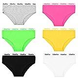 6er Pack Panties Hipster Damen Boxershorts Baumwolle in leuchtende Farben Libella 3409 XS