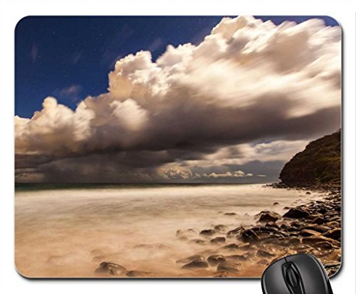 Stelle Heavy Clouds Over Seashore Mouse Pad, Mousepad (Cielo Mouse Pad)