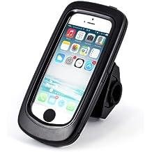 Arendo – iPhone 5 / 5s / SE soporte para bici impermeable al agua | carcasa/funda para bici | soporte para móvil/smartphone | manejo sencillo | fijación segura | optimizado para navegación en bici | adecuado para todo tipo de bicicletas y manillares