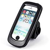 Arendo - wasserdichte Fahrradhalterung für Apple iPhone SE mit Trageband | Fahrrad Case/Tasche | Handy/Smartphone-Halterung | einfache Bedienung | sichere Befestigung | optimal geeignet für Bike Navigation | passend für alle Fahrradtypen und Lenker