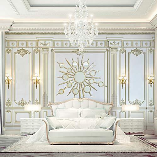 3D Fototapete Europäischen Stil 3D Dreidimensionalen Gold Quadratischen Rahmen Fototapete Wohnzimmer Hotel Tapete