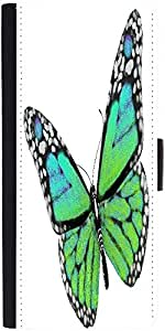 Snoogg Green Butterflydesigner Protective Flip Case Cover For Samsung Galaxy ...
