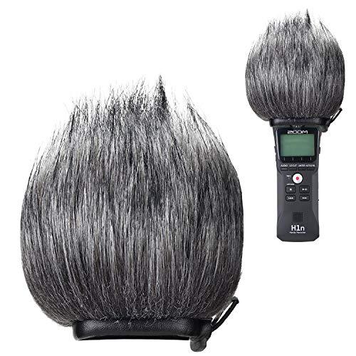 YOUSHARES Peloso Parabrezza Outdoor, Filtro Pop/Scudo Coperchio Vento per Lo Zoom ZH1 H1 Handy Portable Recorder