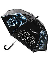 """Regenschirm - """" Star Wars / Anakin Skywalker - Darth Vader """" - Kinderschirm aus Folie Ø 74 cm - Kinder Stockschirm - Schirm Kinderregenschirm / Glockenschirm - für Jungen - Starwars / Clonewars"""