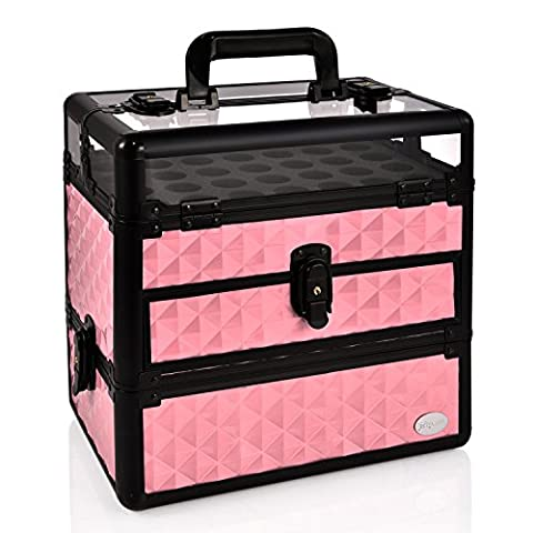 Joligrace Professional Nail Polish Bottles Organiser Box Beauty Case Makeup Cosmetic Nail Tools Storage Box (Baby