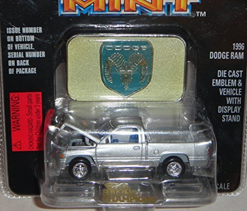 RACING CHAMPIONS MINT SILVER 1996 DODGE RAM #33 1:61 SCALE DIE-CAST by RACING CHAMPIONS