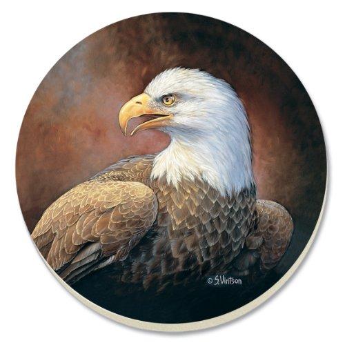 CounterArt Bald Eagle saugfähig Untersetzer, 4Stück -