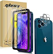 [5 Pack] 3 Pack Screen Protector Tempered Glass Compatible with iPhone 13/13 PRO/PRO MAX 5G+2 Pack Camera Lens