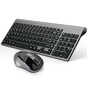 joyaccess wireless keyboard mouse full size compact keyboard mouse combo desktop uk layout. Black Bedroom Furniture Sets. Home Design Ideas