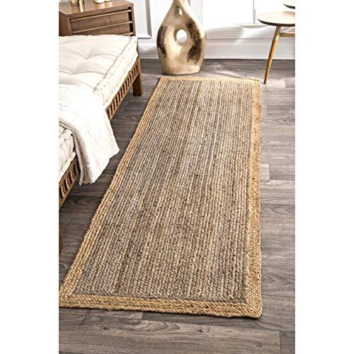 nuLOOM Teppich aus Naturfasern, Jute-Bereich Natürlich 2' 6