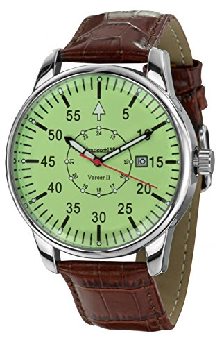 Calvaneo 12544 – Reloj, correa de cuero color marrón
