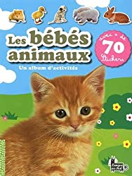 LES BEBES ANIMAUX - 70 STICKERS
