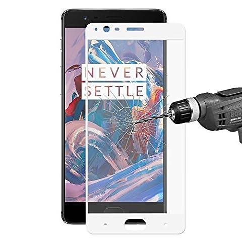 HAT PRINCE Displayschutzfolie temperiert Glass Screen Protective Film für OnePlus 3/3T 0.26mm 9H 2.5D Arc Edge - (Glass Hat)