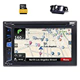 EinCar Wince Doppel-DIN-Audio, Touchscreen, Bluetooth, Navigation / GPS Sat Navi, DVD / CD / MP3 / USB / Dual SD AM / FM-RDS-Radio Car Stereo, 6.2 Zoll-Digital-LCD-Monitor, drahtlose Fern, Rückfahrkamera inklusive, Subwoofer, 1080P Video