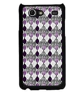 PrintVisa Designer Back Case Cover for Samsung Galaxy S Advance i9070 (Leafs Purple and Grey Design)