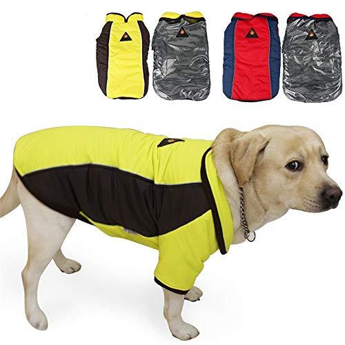 Eyxia- Pet Master Manteau de Chien réversible d'hiver for Temps Froid Coupe-Vent imperméable à l'eau Plaid Gilet de Chien Chaud for Petit Moyen Gros Chiens (Color : Yellow, Size : XXL)