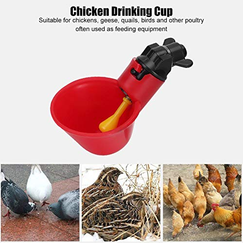 10 Stücke Geflügel Fütterungsgeräte Tränken Tränkanlagen Brunnen Waterers Livestock Automatische Rote Wasserschüssel Wachtel Huhn Trinkbecher Nippel Haltung Ausrüstung