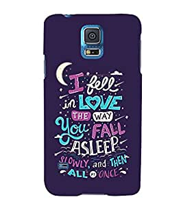 FUSON I Fell In Love 3D Hard Polycarbonate Designer Back Case Cover for Samsung Galaxy Grand 2 :: Samsung Galaxy Grand 2 G7105 :: Samsung Galaxy Grand 2 G7102 :: Samsung Galaxy Grand Ii