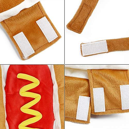 CARDMOE Hundemantel Hot Dog Kleidung stilvoll Hotdog Form Haustier Kostüm