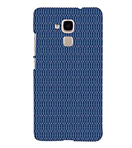 Blue Shower Pattern 3D Hard Polycarbonate Designer Back Case Cover for Huawei Honor 5C : Huawei Honor 7 Lite : Huawei GT3