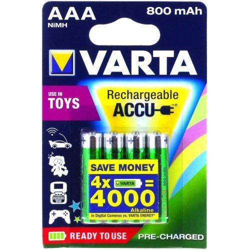 Varta Power Akku Ready2Use Toys Micro AAA 4er Blister, 1,2V, NiMH