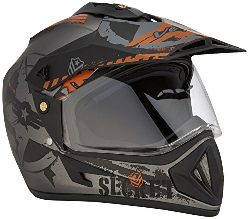 Vega Off Road Secret Full Face Helmet (Dull Anthra Black, L)