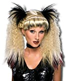 Perruque punk gothique blond / noir