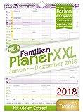 FamilienPlaner XXL 2018 34x48cm, 7 Spalten, Wandkalender 12 Monate Jan-Dez 2018 - Wandplaner, Familienkalender, Ferientermine, viele Zusatzinfos - Chäff-Timer