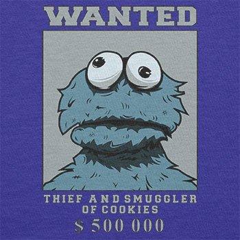 Texlab–Wanted Thief and Smuggler of Cookies–sacchetto di stoffa Marine