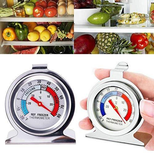 Gaddrt Küche Tiefkühlthermometer 2 STÜCKE Edelstahl Kühlschrank Gefrierschrank Thermometer Hängen Lehre Kühlschrank Hause