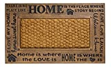 Fußmatte / Fussmatte Fußabstreifer Fußabtreter Schmutzmatte robuste Fußmatte im Home is where my home is - bronze - schönen Design für draussen im draußen Modell EXCELLENT