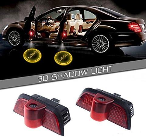 JDWG JDWG-C Auto-LED-Projektor-Tür-Lampe Geist Willkommen Licht-Laser-Beauty-Logo Kit Autotür Logo Projektion Licht Türbeleuchtung, 1 Paar
