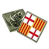 La ciudad de Barcelona España Bandera Insignia de solapa Pouch