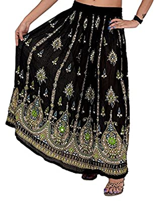 Whitewhale Womens Long Skirt India Traditional Clothing Designer for Spring Summer