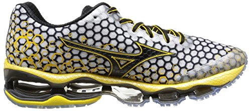 Mizuno, Wave Prophecy 3, Scarpe sportive, uomo White/Black/Cyber Yellow