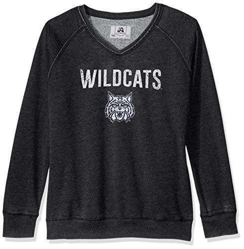 Fan Womens Raglan (J America NCAA Damen erreichen Fleece Crew Sweatshirt, Damen, Achieve Fleece, schwarz, X-Large)