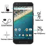 [2 Stück] OMOTON Panzerglas Displayschutzfolie für Google / LG Nexus 5X , Anti-Kratzen, Anti-Öl, Anti-Bläschen,9H Härte - 2