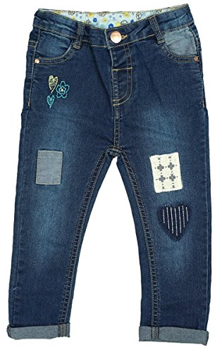Girls Baby Toddler Embroidered Patchwork Fashion Jeans sizes from 3 to 24 Months
